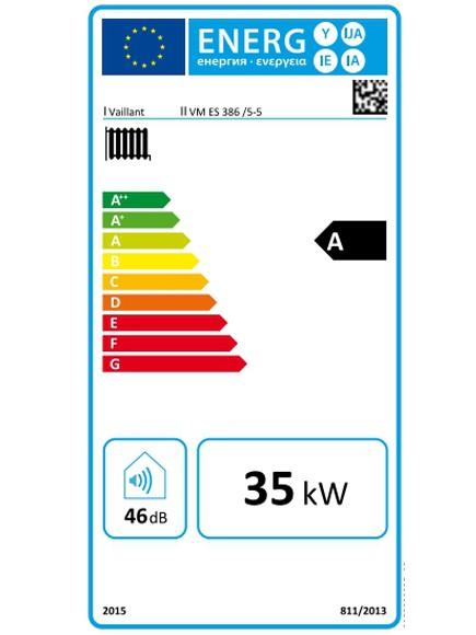 Etiqueta energética Caldera de gas condensación Vaillant