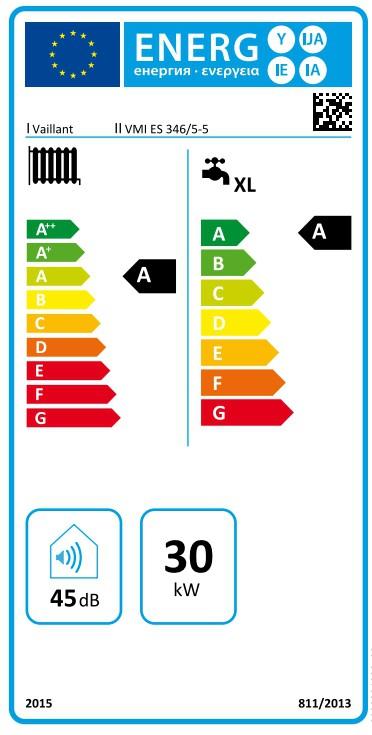 Clasificación energética de la ecoTEC plus VMW ES 346/5-5