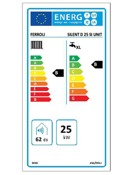 Eficiencia energética de la caldera FERROLI SILENT D 25 SI UNIT