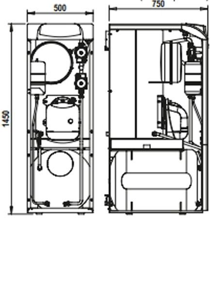 Dimensiones de la Ferroli Silent D 25 K 100 UNIT
