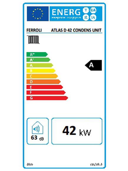 Clasificación energética Ferroli Atlas D 42 Condens UNIT