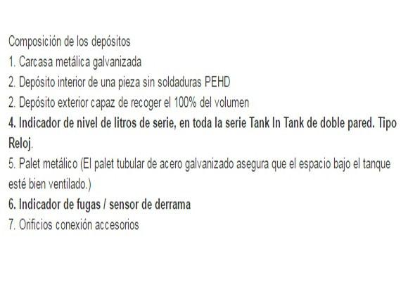 Características del depósito gasoil Schütz tank in tank 1.000 l