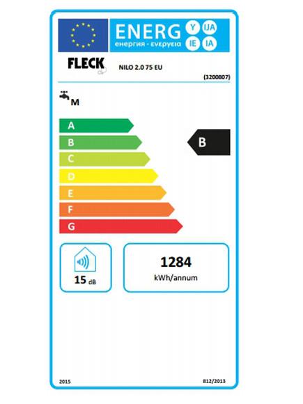 Clasificación energética Fleck Nilo 75 EU