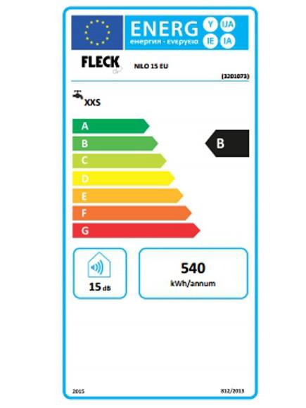 Eficiencia del Termo eléctrico Fleck Nilo 15 EU